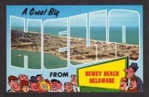 DE Hello from DEWEY BEACH DELAWARE Postcard PC Aerial