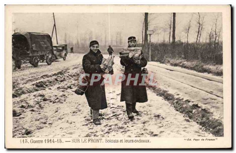 Old Postcard Army Soldiers on the front, and their gifts
