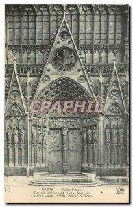 Old Postcard Paris Notre Dame Side south Portal Saint Marcel