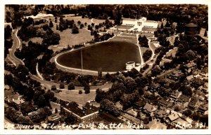 Washington Seattle Aerial View Art Museum Volunteer Park Real Photo