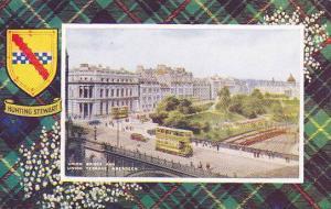 Hunting Stewart, Union Bridge And Union Terrace, Aberdeen, Scotland, UK, 1910...