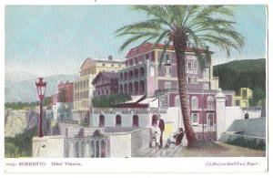 Italy Sorrento Hotel Vittoria Vntg De Luca Gentile Postcard