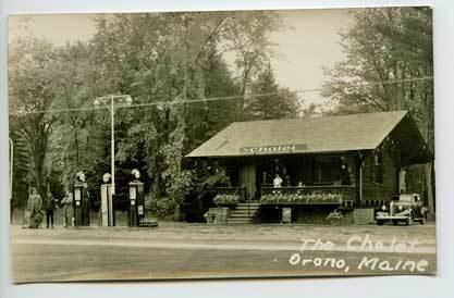 Orono Me Gas Station Roadside Restaurant 4 Four Rppcs