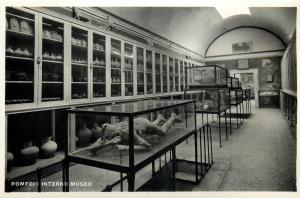 Italy 1930s Real Photo Postcard Pompei museum interior