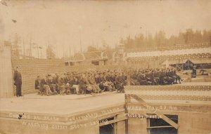 LPC89 Monroe Washington RPPC Postcard Convicts State Reformatory Prison