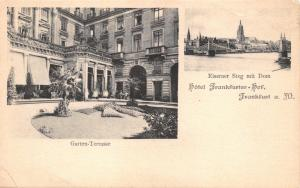 FRANKFURT a M GERMANY~HOTEL FRANKFURTER GARTEN TERRASSE PHOTO POSTCARD