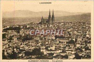 Old Postcard Auvergne Clermont Ferrand General view