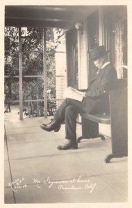 RPPC Mr. Seymour at Home, Pasadena, CA Nielen Photo ca 1920s Vintage Postcard