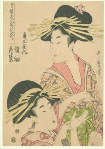 Japan Geisha Woman Utamaro BS.01