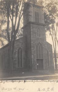 Johnstown New York~St Johns Episcopal Church~Built 1837~1905 Real Photo Postcard