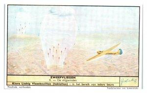 Gliders Use Thermals, Dutch Liebig Zweefvliegen Wind Flight Trade Card