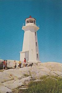 Lighthouse , Peggy´s Cove , Nova Scotia , Canada , 50-60s