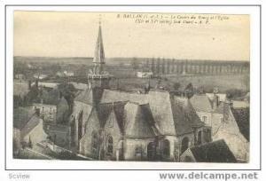 Le Centre du Bourg et l'Eglise,Sud Ouest,Ballan,France,00-10s