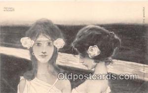 Theo Stroefer, Greek Vierges, Series 99 Artist Raphael Kirchner Postcard Post...