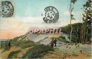 Old Postcard Dunes Landscape