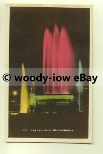 tp8367 - Hants - The Illuminated Fountain at Night, Bournemouth -  postcard