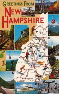 Greetings From New Hampshire With Map