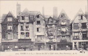 Maisons Des XII Et XIII Siecles, Place Plumereau, Tours (Indre et Loire), Fra...