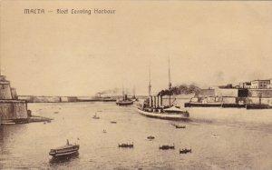 Fleet Leaving Harbour, Malta, 1900-10s