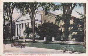 Glimpse Of The Masonic Temple, Watertown, New York, PU-1910