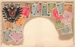 Austria, Stamps on Embossed Postcard, Unused, Published by Ottmar Zieher