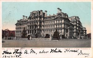 State, War, and Navy Dept. Building,  Washington, D.C., Early Postcard, Used