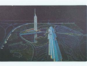 1987 postcard ad DOMINO'S PIZZA WORLD HEADQUARTERS Ann Arbor Michigan MI E6522