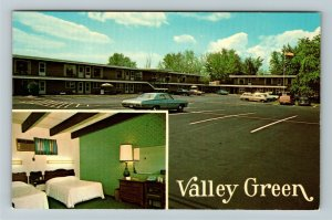 Keene NH- New Hampshire, The Valley Green Motel, Chrome Postcard