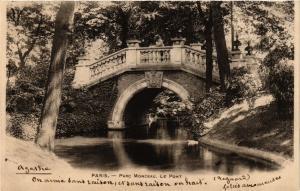 CPA PARIS 8e Parc Monceau. Le Pont (390045)