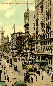 NY - New York City. 42nd St looking toward Times Building circa 1910