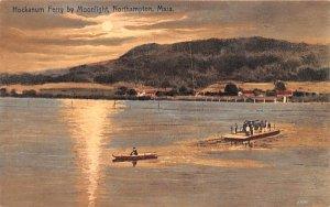 Hockanum Ferry by Moonlight Northampton, Massachusetts Postcard
