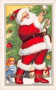 Santa Claus Post Card Old Vintage Antique Christmas Postcard Unused
