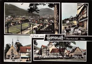 Gruess aus Herrenalb Schwarzwald Gesamtansicht Kapelle Chapel Vintage Cars Auto