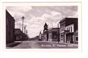 Real Photo, Nelson St, Virden, Manitoba,