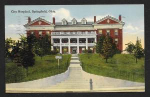 City Hospital Springfield OH used c1915