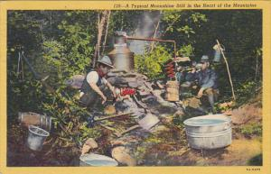 A Typical Moonshine Still In The Mountains 1957