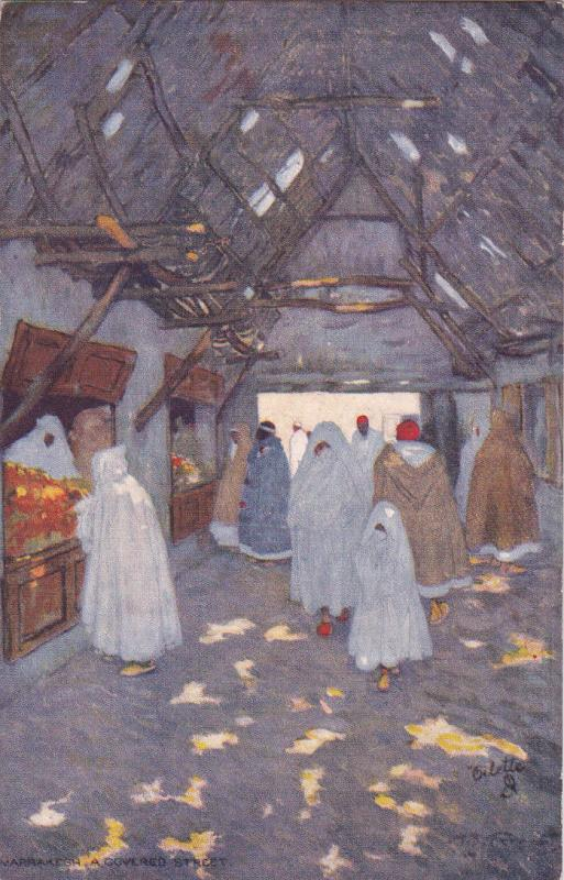 [SOLD] MARRAKESH, Morocco, 1900-1910's; A Covered Street; TUCK # 7427