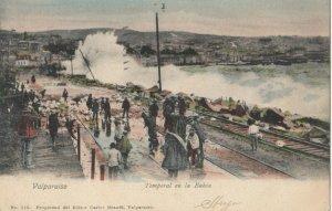 VALPARAISO , Chile , 1907 ; Temporal en la Bahia