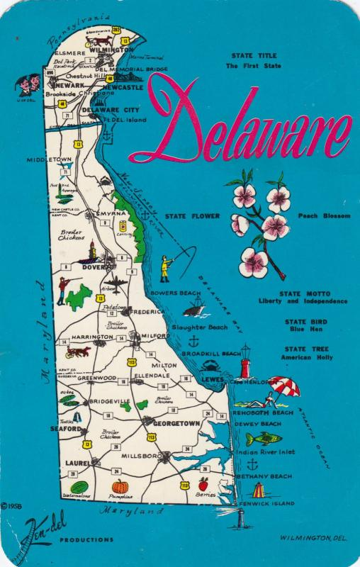 State Map , Delaware, 1940-60s
