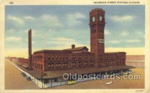 Dearborn Street Depot, Chicago, IL USA Train Railroad Station Depot Post Card...