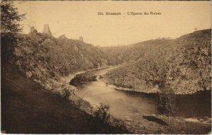CPA CROZANT L'Eperon des Ruines (1143798)