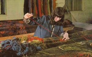 Carpet Finishing at the Wilton Royal Factory 1970s Postcard