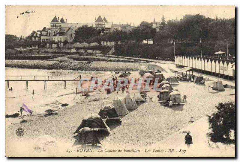 Old Postcard Royan Foncillon The Layer Tents