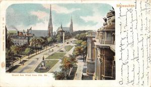 Milwaukee Wisconsin~Grand Avenue West @ 8th Street~1901 Private Mailing Postcard