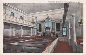Virginia Alexandria Christ Church Interior  Curteich