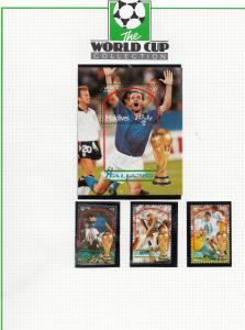 Maldives Football World Cup Team 1990 Limited Edition Stamp Collection