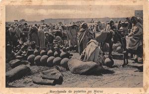 Morocco Marchands de poteries au Maroc
