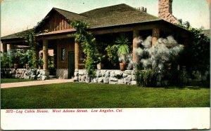 Log Cabin Home West Adams Street Los Angeles California CA UNP UDB Postcard