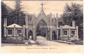 Entrance to Forest Hill Cemetery, Utica NY