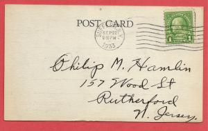 QSL from Suffern, NY to Rutherford, NJ - 1933